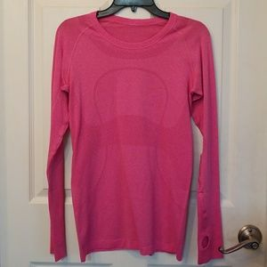Lululemon Magenta Pink Long Sleeve Swiflty 8